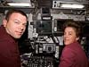Astronauts James M. Kelly and Wendy B. Lawrence