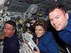 Astronauts Eileen Collins, Stephen Robinson, and James M. Kelly
