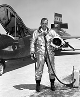 NASA Dryden pilot Bill Dana in front of X-15