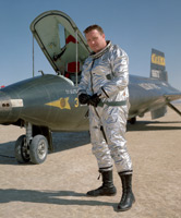 NASA Dryden pilot John McKay in front of X-15
