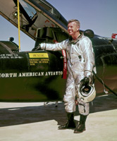 NASA Dryden pilot Joe Walker in front of X-15