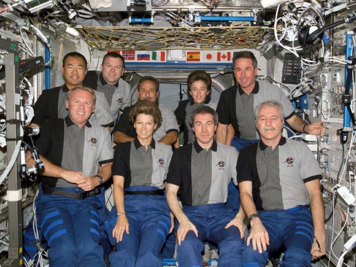 Space Shuttle Discovery and Expedition 11 crews
