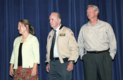 Sheri McKay Lowe, oldest daughter of Jack McKay; Bill Dana, and Jim Walker, son of Joe Walker