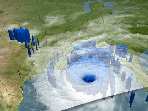 TRMM satellite's image of Katrina from August 29, 2005.