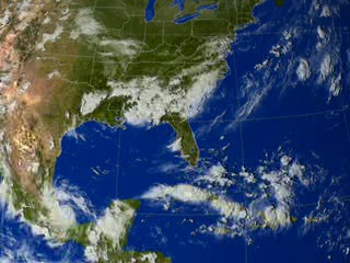 Still from animation of rain accumulation from Katrina.
