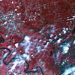 Baton Rouge, LA seen from space