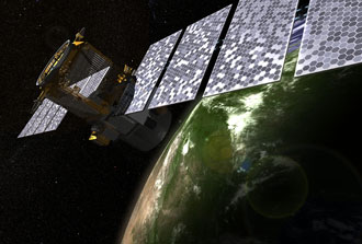 Artist's rendering of the CALIPSO spacecraft.