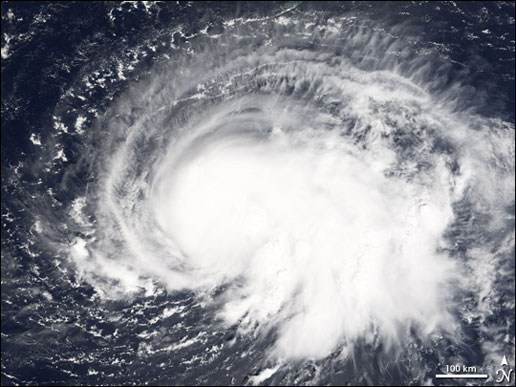 Tropical Storm Nate image taken by the MODIS instrument on the Terra satellite on September 6, 2005.
