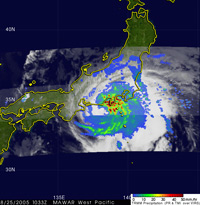 TRMM image of Typhoon Mawar