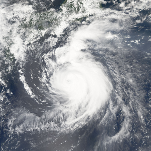 MODIS image of Typhoon Mawar