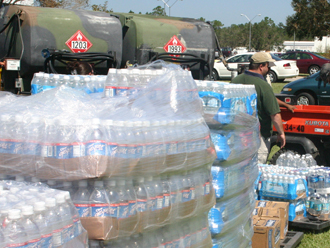 Water and fuel arrive at Stennis Space Center.