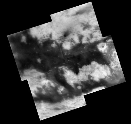 mosaic of territory on Titan's Saturn-facing hemisphere