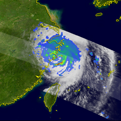 An image of typhoon Khanun