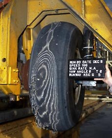 Results of tire test at the Aircraft Landing Dynamics Facility