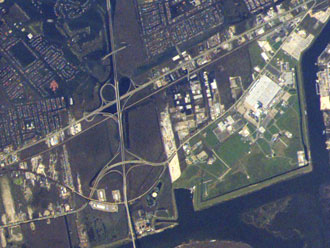 Michoud Assembly Facility from the International Space Station