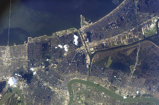 International Space Station image of New Orleans taken on September 8, 2005.