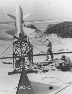 Image of Wallop's first rocket launch