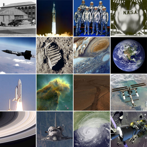 Photos from NASA on the 47th birthday, in 2005