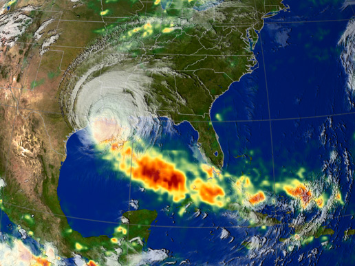 Image of Hurricane Rita Rainfall