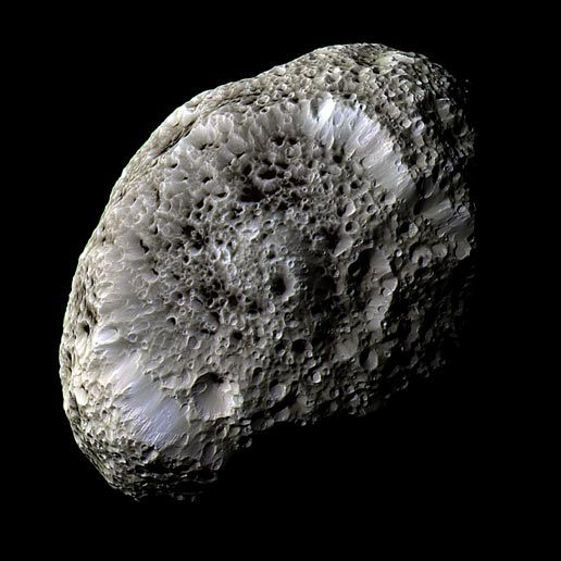 false-color view of Hyperion
