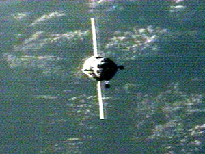 Soyuz approaches station