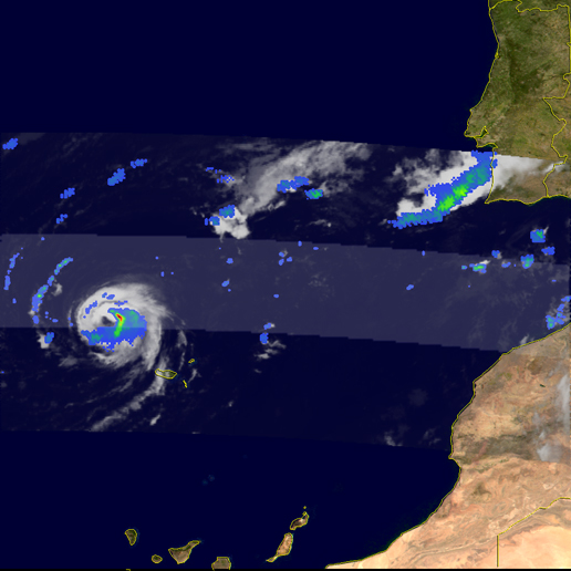 Image of hurricane Vince