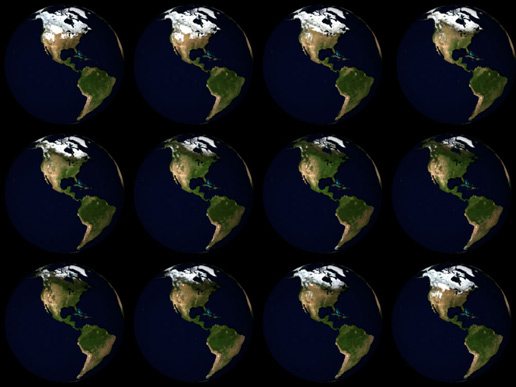 Image of the 12 Months of the Blue Marble