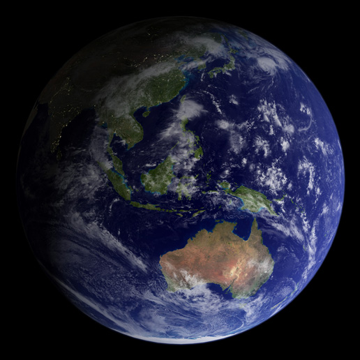 Image of the Blue Marble 2002
