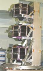 ST5 satellites stacked in launch structure