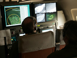 Enhanced X-band weather radar confirms the synthetic vision system views.