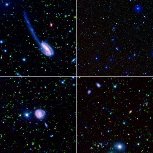 Composite images taken by the Spitzer Wide-area Infrared Extragalactic Legacy project