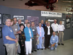Attendees tour the Hiller Aviation Museum