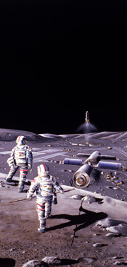 Artists Conception of Astronauts on the Moon