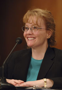 Shana Dale at confirmation hearing. Photo credit: NASA/Bill Ingalls