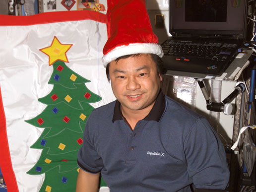 Chiao with Santa hat