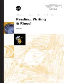 Mission to Saturn Educator Guide, Reading, Writing & Rings! Grades 1-2 cover