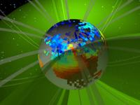 Still from animation showing a close up of the plasmasphere.
