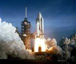 First space shuttle launch.