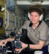 Astronaut Susan Helms on the space station.