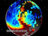total electrons in Earth's ionosphere