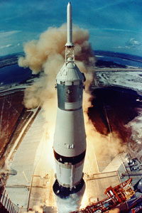 Apollo 11 launches in July 1969