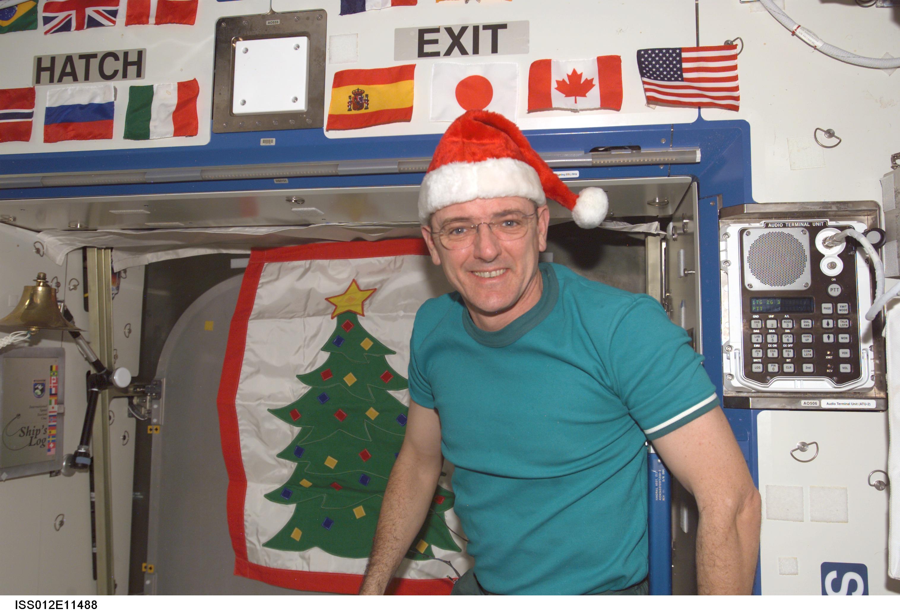 NASA Happy Holidays - Astronaut decorations