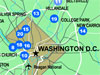 Interactive Map of space-related destinations in Washington, D.C.
