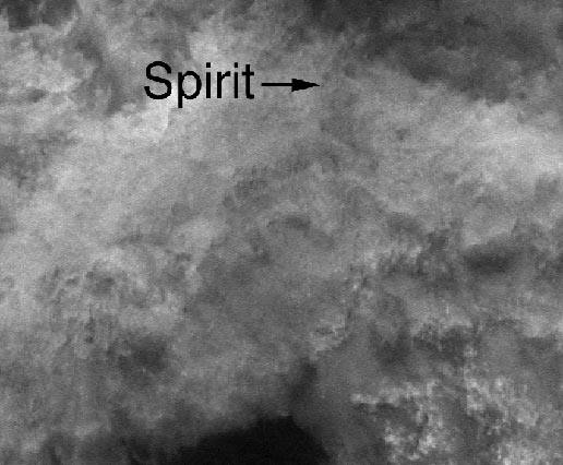 Mars Global Surveyor image of Spirit