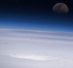 The eye of Hurricane Emily photographed from the International Space Station.