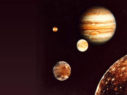 NASA - Jupiter and its four planet-size moons
