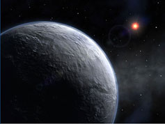 Artist's concept of the newfound rocky planet.
