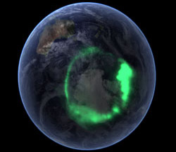 image of the aurora australis (Southern lights)
