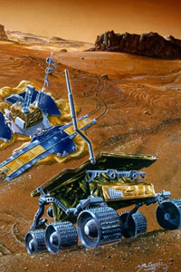 Artist's rendering of the Mars Pathfinder