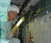 Mission Specialist Lisa Nowak during CEIT